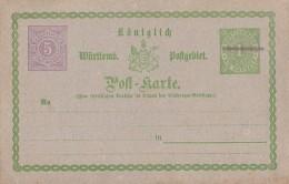 Württemberg Ganzsache Minr.PZD 5 Postfrisch - Wuerttemberg