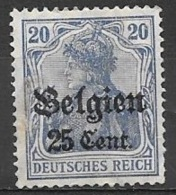 1916 German Occupation 25c On 20pf, Mint Light Hinged - WW I