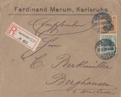 DR R-Brief Mif Minr.85I, 88I Karlruhe 23.9.09 - Deutschland