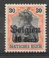 1916 German Occupation 40c On 30pf, Mint Light Hinged - WW I
