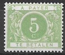 1895 Postage Due 5c, Mint Light Hinged - Postage Due