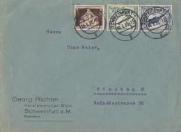 DR Brief Mif Minr.617, Zdr. Minr.W105 Schweinfurt 10.6.36 - Briefe U. Dokumente