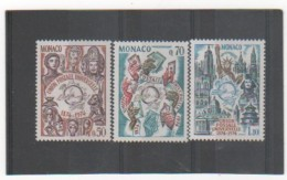 MONACO 1974 YT N° 953-4-5 Neufs** MNH - Monaco
