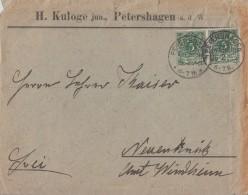 DR Brief Mef Minr.2x 46 KOS Petershagen 26.2.90 - Deutschland