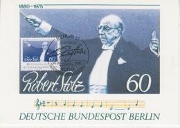 Berlin 1980 Robert Stolz 1v Maxicard (30897) - [5] Berlijn