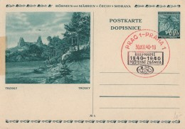 Böhmen & Mähren GS Minr.P6/12 Trosky SST Prag 30.12.40 - Besetzungen 1938-45