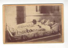 """Photographie   Fontevrault , ( Fontevraud ) Tombeaux Richard Coeur De Lion ... , Phot. """" P. S. """"  , ( Format Cabinet ) . - Ancianas (antes De 1900)"""