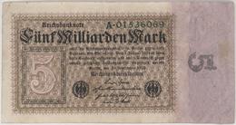 5 Milliarden Mark - Reichsbanknote - German Reich / Deutsches Reich - Year 1923 - [ 3] 1918-1933 : Weimar Republic