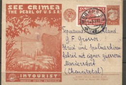 EXTRA M15 - 01 OPEN LETTER WITH ADVERTISING FROM SSSR TO GERMANY. - Covers & Documents