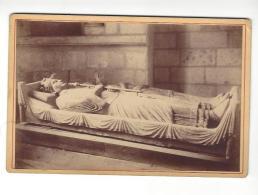 """Photographie   Fontevrault , ( Fontevraud ) Tombeaux Henri II  Et Eléonore ... , Phot. """" P. S. """"  , ( Format Cabinet ) . - Ancianas (antes De 1900)"""