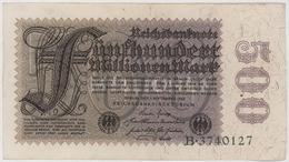 500 000 000 Mark / 500 Millionen Mark - Reichsbanknote - German Reich / Deutsches Reich - Year 1923 - [ 3] 1918-1933 : Weimar Republic