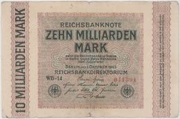 10 Milliarden Mark - Reichsbanknote - German Reich / Deutsches Reich - Year 1922 - [ 3] 1918-1933 : Weimar Republic