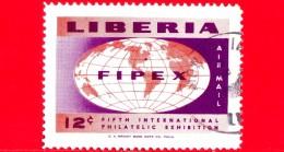 LIBERIA - Nuovo - 1956 - 5° Mostra Filatelica Posta Aerea Internazionale (FIPEX) - Emblema - 12 P. Aerea - Liberia