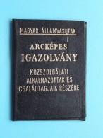 MAGYAR ALLAMVASUTAK / Hongarije - Spoorwegen / Chemin De Fer ( N° 044331 ) Anno 1987 - Zie Foto´s ! - Titres De Transport