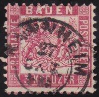 Baden     Michel    .     18         .            O             .          Gebraucht  /  Cancelled - Baden