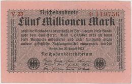 5 Millionen Mark - Reichsbanknote - German Reich / Deutsches Reich - Year 1923 - [ 3] 1918-1933 : Repubblica  Di Weimar