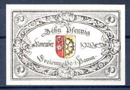 400- Freienwalde (Chociwel En Pologne) Billet De 10pf 1920 N° Vert - [11] Local Banknote Issues