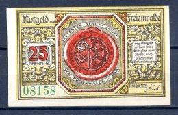 400- Freienwalde (Chociwel En Pologne) Billet De 25pf 1920 N° Vert - [11] Local Banknote Issues