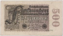 500 Millionen Mark - Reichsbanknote - German Reich / Deutsches Reich - Year 1923 - [ 3] 1918-1933 : Weimar Republic