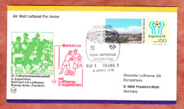 Luftpost, Fussballweltmeisterschaft, EF, SoSt Mendoza Iran - Holland, Nach Frankfurt 1978 (45849) - Argentina