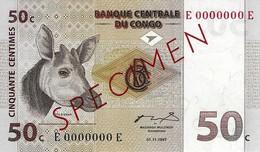 CONGO DEMOCRATIC REPUBLIC 50 CENTIMES 1997 P-84s UNC SER: E0000000E [ CD305bs ] - Congo