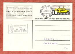 P 211 Postomnibus,Bureau De Poste Automobile Nebst SoSt Congres Philatelique La Chaux-de-Fonds, Nach Genf 1948 (45893) - Entiers Postaux