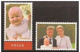 Belgium**Prince Philippe & Mathilde+Princess Elisabeth-2vals-2002-Royalty - Belgium