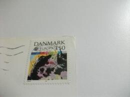 STORIA POSTALE FRANCOBOLLO COMMEMORATIVO TEMA EUROPA DANIMARCA COPENHAGEN ROUND TOWER - Danimarca