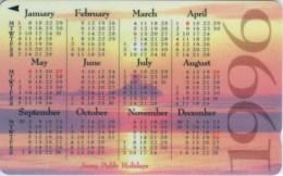 Telefonkarte Jersey - Kalender 1996   - Landschaft - Sonne - 42JERD - Jersey Et Guernesey
