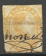 VENEZUELA 1871/1878 Stempelmarke Escuelas Bolivar Michel 1 O - Venezuela