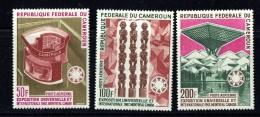 1967  EXPO '67  Montreal  Série Complète De 3 Poste Aérienne  **  MNH - Cameroon (1960-...)