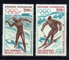 1968  Jeux Olypiques Mexico: Javelot Et Grenoble: Ski ** - Central African Republic