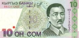KYRGYZSTAN 10 COM (SOM) 1997 P-14 UNC [ KG212a ] - Kirghizistan