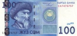 KYRGYZSTAN 100 COM (SOM) 2009 P-26 UNC [ KG222a ] - Kirgisistan