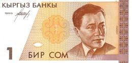 KYRGYZSTAN 1 COM (SOM) ND (1993) P-7 UNC [ KG204a ] - Kirghizistan