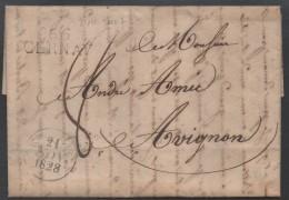 CERNAY - ALSACE / 1828 MP SUR LAC  POUR AVIGNON / COTE  30 € (ref 1989) - Alsace-Lorraine