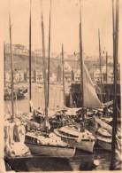 Photo Originale Allemagne - Heligoland - Helgoland En 1934 - Joli Port Et Voiliers En Mer Du Nord - Mâts De Bateaux - Lugares