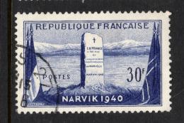"""France   1952   """"Battle Of NARVIK""""     VFU  (0) - France"""