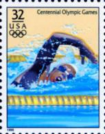 Sc#3068n 1996 USA Olympic Games Stamp-Women's Swimming Athletic - Summer 1996: Atlanta