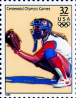 Sc#3068o 1996 USA Olympic Games Stamp-Women's Softball Athletic - Summer 1996: Atlanta