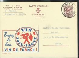 Publibel Obl. N° 1714 ( Buvez Le Bon Vin De France) Obl: Ciney - Stamped Stationery