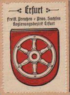 Werbemarke (Reklamemarke, Siegelmarke) Kaffee Hag : Wappen Von Erfurt - Tea & Coffee Manufacturers