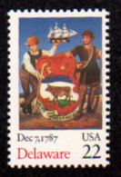 USA, 1987, Scott #2336, Ratification Of The Constitution, Delaware,  MNH, VF - United States