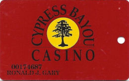 Cypress Bayou Casino Charenton, LA - Slot Card - 8 Lines Of Text On Reverse - Wide Signature Strip - Casino Cards