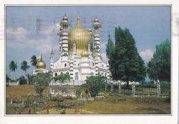 Malaysia 1990 Kuala Kangsar Perak Ubudiah Mosque Islam, Religion Postcard No.2 - Malaysia