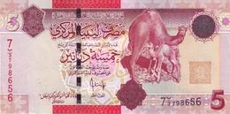 LIBYA 5 DINARS ND (2009) P-72 UNC [ LY536a ] - Libië