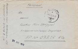Feldpost WW2: To Bruxelles In Belgium - Kraftfahr Park 510 FP 07515AG From Calais In France - Eisenbahn Betriebs Und Mas - Militaria