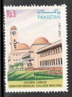 Pakistan 2001 Nishtar Medical College Multan Health Architect Sc 978 MNH # 4185 - Other