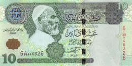 LIBYA 10 DINARS ND (2004) P-70a UNC [ LY533a ] - Libya