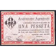 LRDBYMA6200-LFTBIMGC0016-B.BILLETES DE LERIDA DE LA GUERRA CIVIL. 1 PESETA 1937. AYUNTAMIENTO DE AGRAMUNT - [ 2] 1931-1936 : República